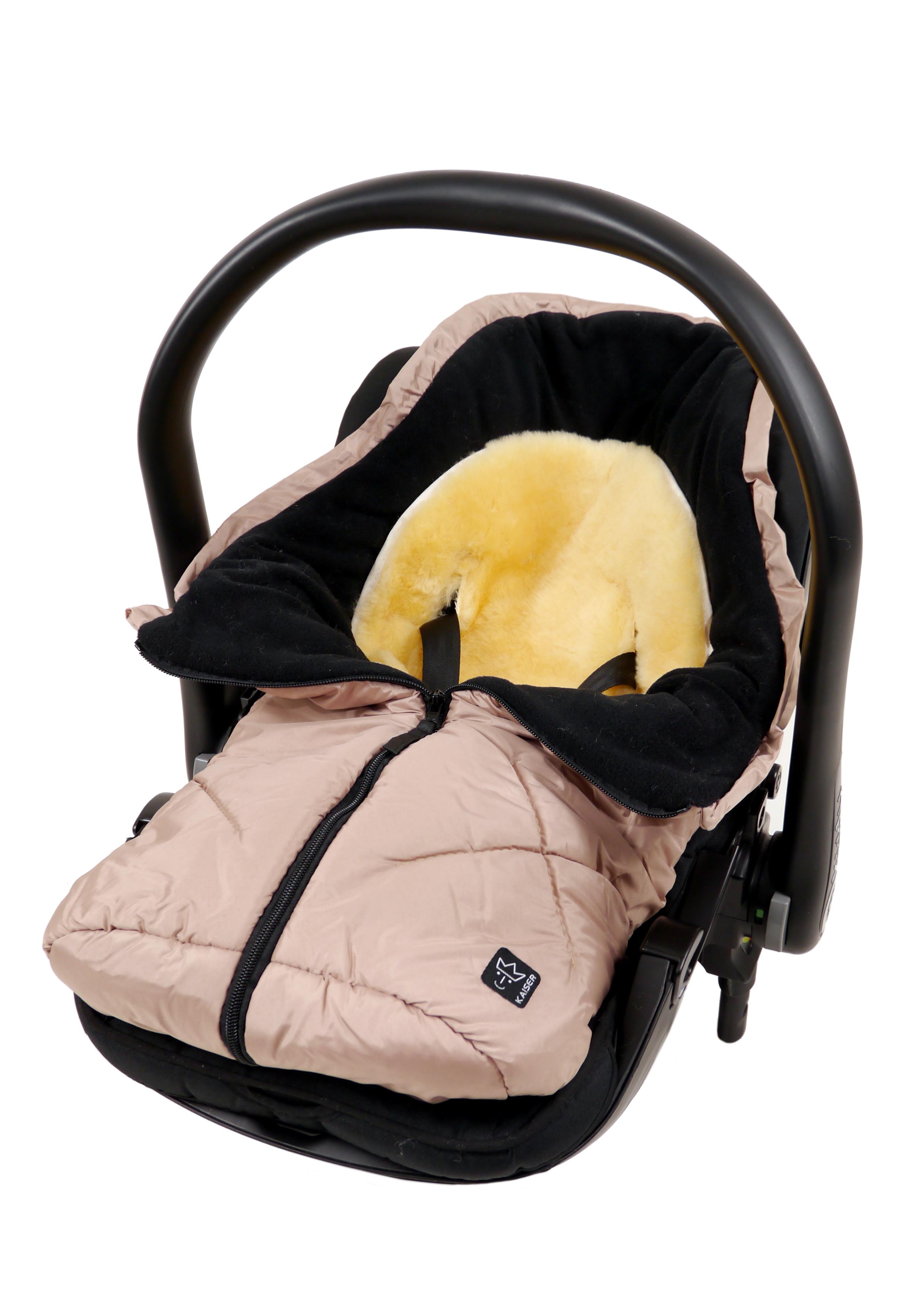 mit Lammfelleinlage, Little Sheepy Neu Fußsack für Babyschale und Kinderwagen
